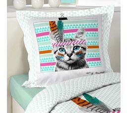 housse de couette 140x200 cm 1 taie d 39 oreiller catsaka linge de lit but. Black Bedroom Furniture Sets. Home Design Ideas