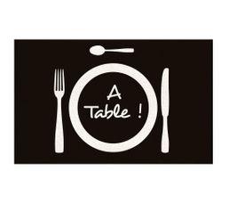 Tapis cuisine 50x80 A TABLE Noir