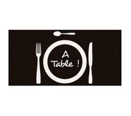 Tapis Cuisine 57x115 A Table Noir Tapis De Cuisine But