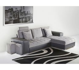 angle convert m ridienne droit alice pu anthracite tissu gris canap s but. Black Bedroom Furniture Sets. Home Design Ideas