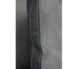 Angle convert.méridienne droit ALICE PU Anthracite/tissu Gris