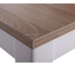 Table rectangle avec allonge RUBEN Blanc/chêne sonoma