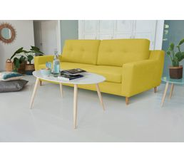 Canap convertible 4 places ostende tissu bleu canap s but for Canape ostende but