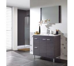 Meuble de salle de bain 80 cm BARBADES Gris