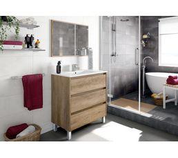 Meuble de salle de bain 80 cm BORA BORA Chêne