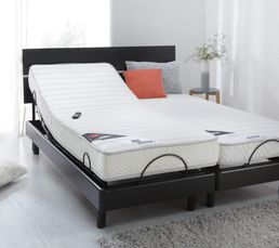 sommier noir 2x80x200 cm epeda invitation literies relaxation but. Black Bedroom Furniture Sets. Home Design Ideas