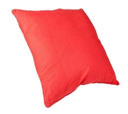 Housse : 100% coton. Garnissage : 100% polyester. Dimensions en cm : 60x60. Entretien : Déhoussable. . Coloris rouge.