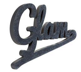 GLAM GLITTER Mot décoratif Noir
