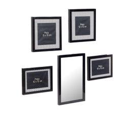 VIBRATION Set miroir + cadre Noir