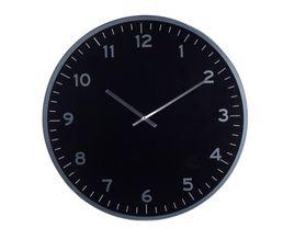 LIVY Horloge D.60 cm Noir/Argent