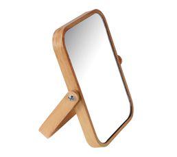 Miroir H. 19 cm STAND Effet bois