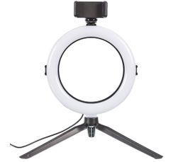 Lampe trépied 72 LED H. 36 cm SELFIE noir - blanc