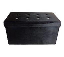 Banc coffre L. 76 - H 38 cm DIAMANT noir