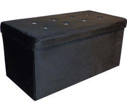 DIAMANT Banc coffre noir