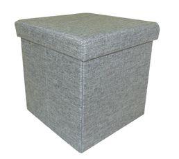 pouf l 35 l 35 cm estrellia gris poufs poires but. Black Bedroom Furniture Sets. Home Design Ideas