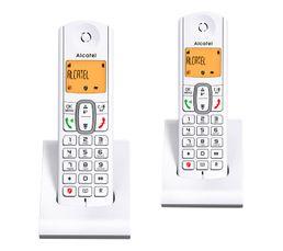 Pack téléphone sans fil ALCATEL F 630 DUO GRIS