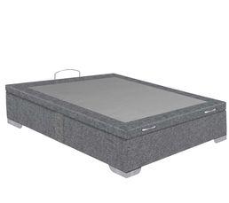 Sommier coffre 180x200 cm SIGNATURE MAXIBOX gris chiné