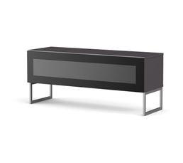 Meuble TV L.120 cm NAPOLI Gris/noir