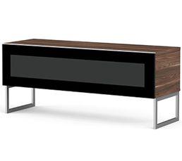 Meuble TV L.120 cm NAPOLI Bois foncé/noir