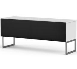 Meuble TV L.120 cm MODENA Blanc/noir - Fibrome info france