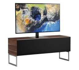Meuble TV L.120 cm MODENA Bois foncénoir
