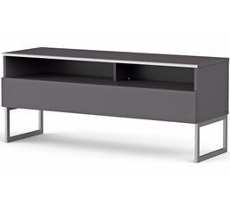 Meuble TV L.120 cm GENOVA Gris