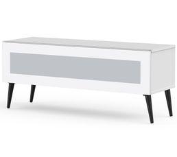 Meuble TV L.120 cm SOLNA Blanc