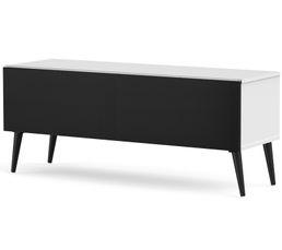 Meuble TV L.120 cm UMEA Blanc/noir
