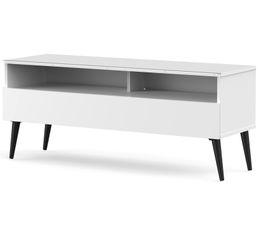 Meuble TV L.120 cm NACKA Blanc