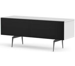 Meuble TV L.120 cm CANBERRA Blanc/noir