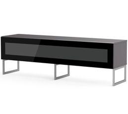 Meuble TV L.160 cm NAPOLI Gris/noir