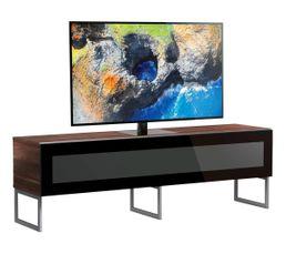 Meuble TV L.160 cm NAPOLI Bois foncé/noir
