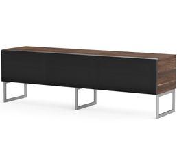 Meuble TV L.160 cm MODENA Bois foncé/ noir