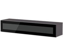 Meuble TV L.160 cm MEMPHIS Gris/noir
