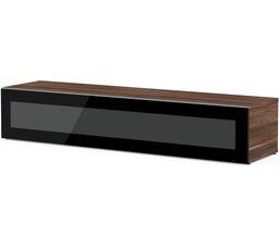 Meuble TV L.160 cm MEMPHIS Bois foncé/noir