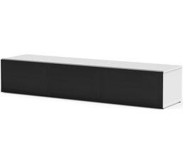 Meuble TV L.160 cm PHILADELPHIE Blanc/noir
