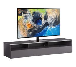 Meuble TV L.160 cm MIAMI Gris