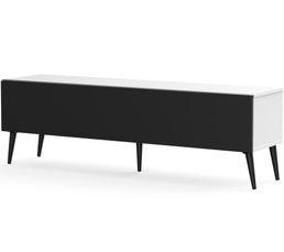 Meuble TV L.160 cm UMEA Blanc/noir
