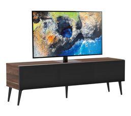 Meuble TV L.160 cm UMEA Bois foncé/noir