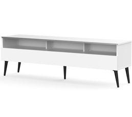 Meuble TV L.160 cm NACKA Blanc