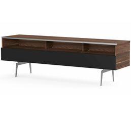 Meuble TV L.160 cm VERONA Bois foncé/noir