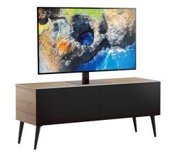Meuble TV L.120 cm UMEA Bois clair/noir