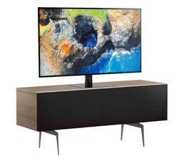 Meuble TV L.120 cm CANBERRA Bois clair/noir