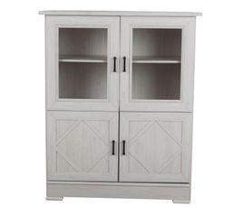buffet haut 4 portes camille camvit4p buffets but. Black Bedroom Furniture Sets. Home Design Ideas