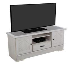 Meuble TV CAMILLE Chêne blanchi/gris