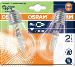 E27 46W Lot de 2 ampoules Halo Eco