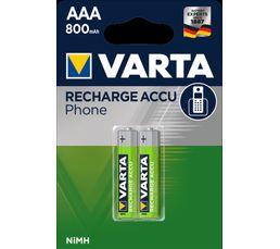 Piles rechargeables VARTA AAA x2