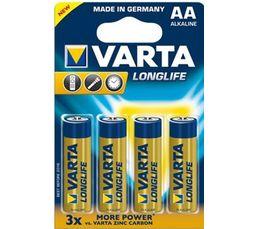 Piles Alcalines VARTA LR6 4106101414 x 4