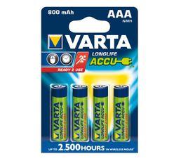 PILES RECHARGEABLES VARTA HR03 56703101404 x 4
