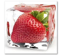 Tableau en verre 20x20 DECO GLASS FRAISE - Toiles BUT